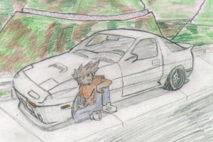 rx7 1991 with crazydriver by Mmrkhaz