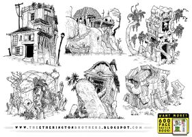 6 Weird World Concepts by STUDIOBLINKTWICE