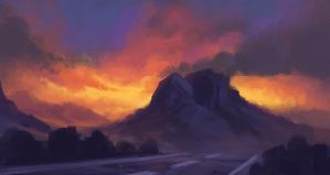 Two Mountains by TomPrante