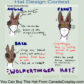 Wolpertinger Hat Contest Entry by Sarahpiii