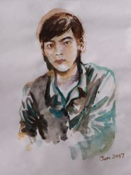 Portrait of Jia Hui in Watercolor by soracilipi