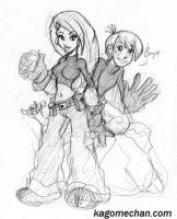 Kim Possible and Ron Stoppable by I-heart-Link