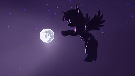 Fluttering in the night by ReiPegaPonyn