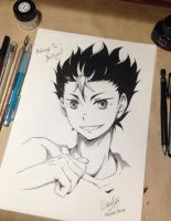 Haikyuu! - Nishinoya Yuu Fan Art by EleganceOfArt