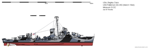 USS Patterson DD-392 (March 1944) - Ms 31/2C by ColosseumSB