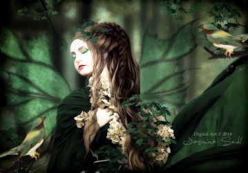 A Beautiful Dream Of A Forest Fairy by JassysART
