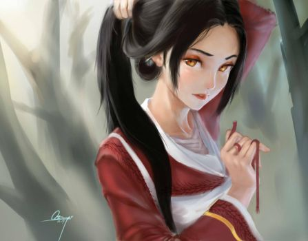 bloodmoon Akali not yet ready by azinqe