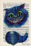 Alice in Wonderland Cheshire Cat Book Page Print by silverscape