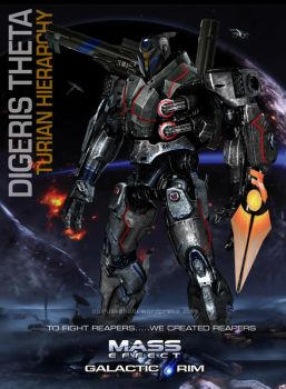 Mass Effect Jaegers Mashup Turian Digeris Theta by rs2studios