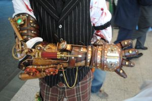 Steampunk Arm by fixinman