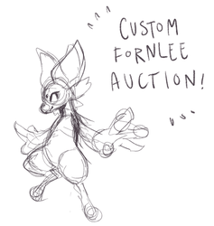 Custom Fornlee Auction (CLOSED) by Kitkabean
