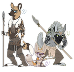 PAYPAL ADOPTABLES - Three African Dogs OPEN by SorahChan