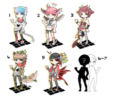 [Closed !] Mix Adoptable Bacth #5 (0/7) by Aro-around