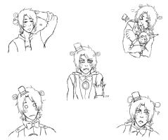Funtime Freddy Sketches by DamianBloodlust