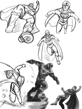 Superman practice by Spikeprime