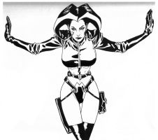 Aeon Flux inks by JosephLSilver