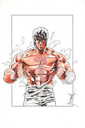 Kenshiro 1 - Color WIP by The-Real-NComics