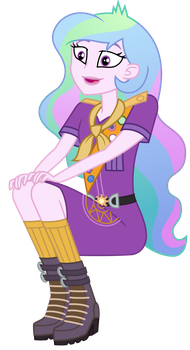 Vector - Camp Everfree Celestia by SketchMCreations