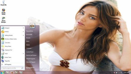 Miranda Kerr-3 Windows 7 theme by windowsthemes