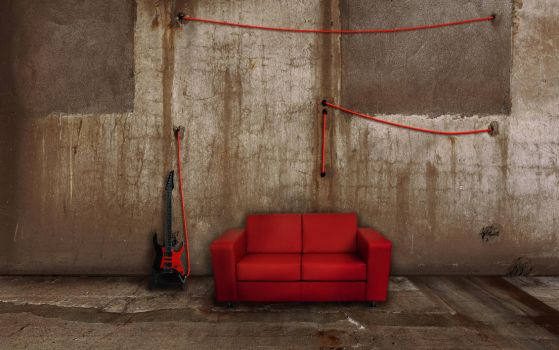 The Couch 2 - Red by boding-bunny