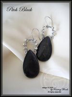 Pitch black - earrings by fantasywinds