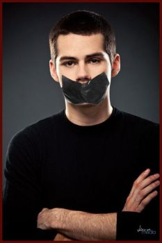 Dylan O'Brien Tapegagged  by DuctTape135