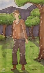 Elven Being in the Forest by LaurenGraceArt