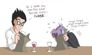 Gohan n Trunks have 'The Talk' by lauraneato