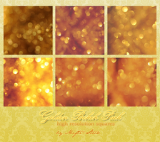 Golden Bokeh Squares by Mifti-Stock