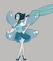 Pearl and Aquamarine fusion by Ovline