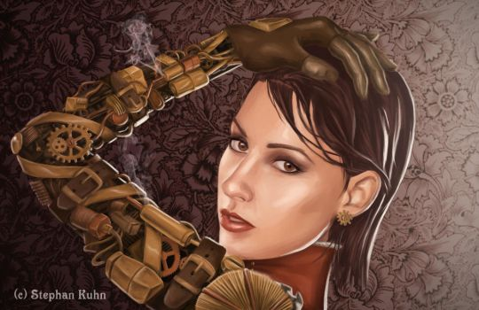 Lady Valerie - Steampunk girl by Dinoforce