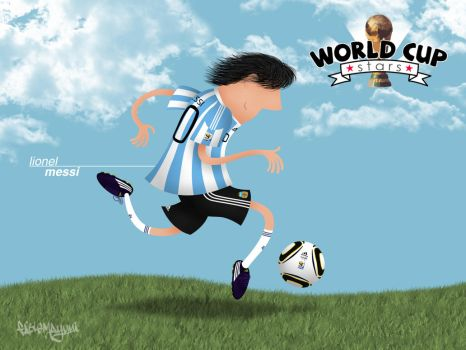 World Cup Stars - Messi by fabiomayumi