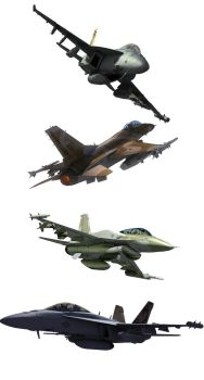 Modern Fighters - Plane Resources png by rOEN911