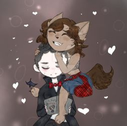 Vamp and Wolf by AskChihuawolf