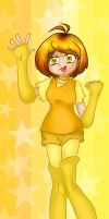Canary Yellow book mark design by Hotaru-oz