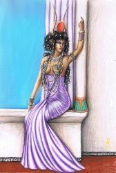 Hathor Relaxing by MyWorld1