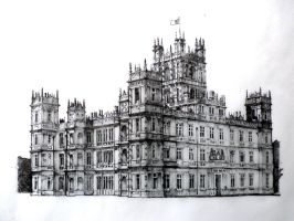 Highclere Castle-Downton Abbey by rojobe