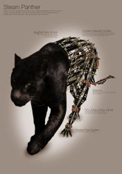 Steampunk Panther by squiffythewombat