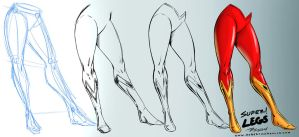 Super Woman Legs Comic Art Style - Reference by robertmarzullo