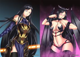 Shanoa (before-after) by HaryuDanto
