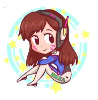 D.va Overwatch by franflipay