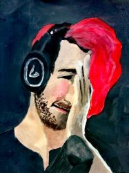 in memory of red haired Markiplier by superloveharrypotter