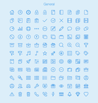 Ultimate Mega Pack of 450 Vector Outlined Icons by eds-danny