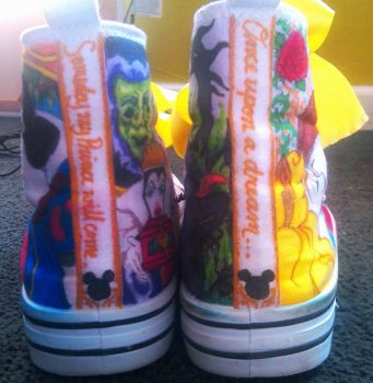 Custom Disney shoes! -back- by blackbirdbethie88