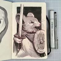 Inktober Day 26 - SQUEAK by D-MAC