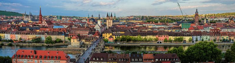 View to Wurzburg from Marienberg Fortress(Germany) by hotzone1492
