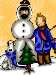 Haddock the Snowman by lexiepotter