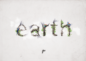 Earth typography by Warbiee