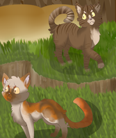 tigerclaw and redtail redraw by honey-bee