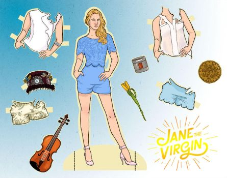 Jane The Virgin Paper Doll: Petra by MSteele07